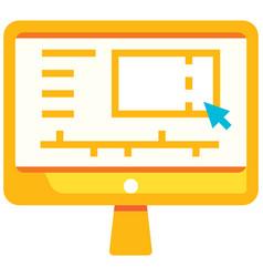 Video editor flat vector