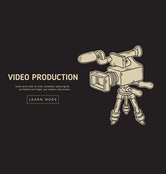 Video production design with isolated video camera vector