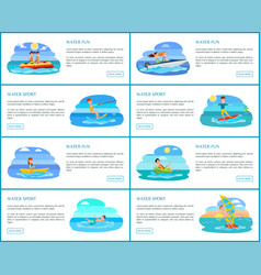 Water fun collection of web vector