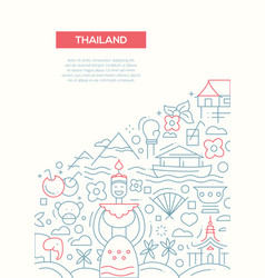 welcome to thailand - line design brochure poster vector image