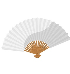 White folding fan vector