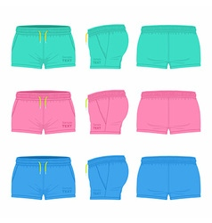 Women sport shorts vector