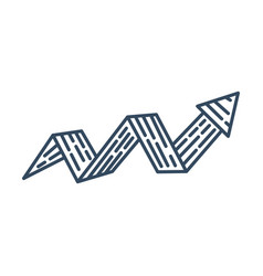 Zigzag arrow design up direction collection vector