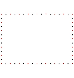 Card suits border frame vector