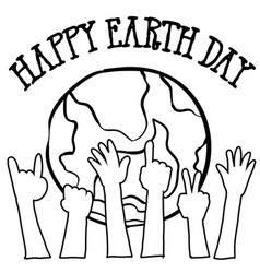 collection of world hand draw earth day vector image vector image