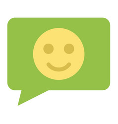comment with smile flat icon feedback and website vector image