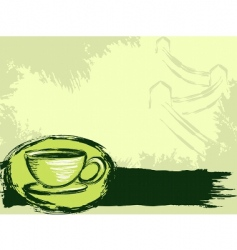 grunge Chinese tea background vector image vector image