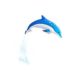 Icon dolphin vector