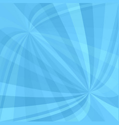 Light blue curved ray burst background - design vector