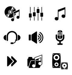 computer audio icons vector image vector image