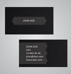Dark business card template vector