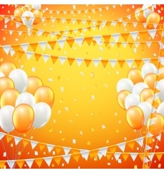 Festive flags background vector image vector image