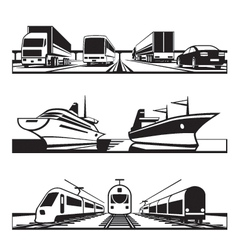 Global transportation set vector image