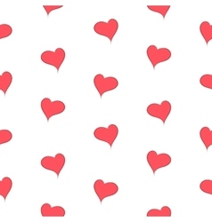 The simple geometry of red hearts on a white vector image