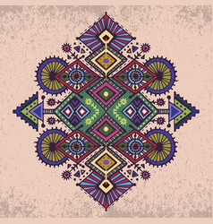 tribal art boho hand drawn geometric pattern vector image vector image