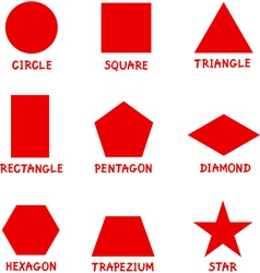 Basic Geometric Shapes with Captions vector image vector image