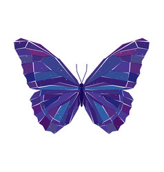 geometric mosaic butterfly vector image vector image