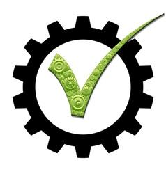Mechanical check mark vector image vector image