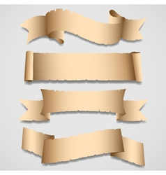 old banners and ribbons set vector image vector image