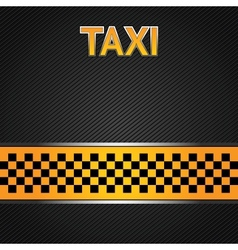 taxi cab background vector image