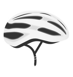white bicycle helmet isolated on a white vector image