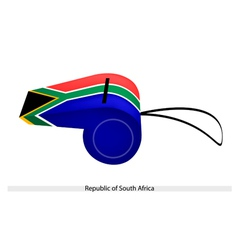 A Whistle of Republic of South Africa vector image