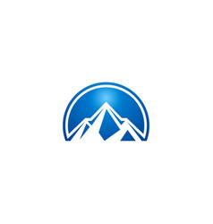 blue mountain abstract logo vector image