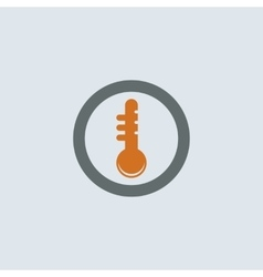 Gray-orange Thermometer Round Icon vector image vector image