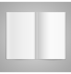 Magazine double page spread with blank pages vector image vector image