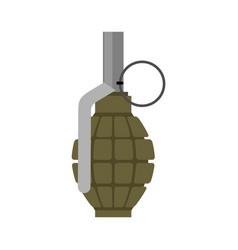 Military grenade green army explosives soldiery vector