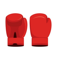 Red boxing gloves on a white background Sports vector image vector image