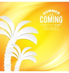Summer background and tropical palm vector image