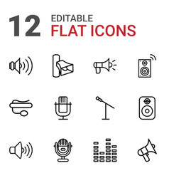 12 voice icons vector image