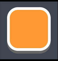 3d flat blank square web button vector