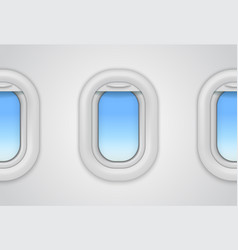 Airplane windows realistic aircraft vector