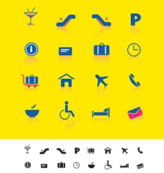 Airport and travel iconset vector