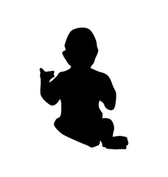 Baby black silhouette vector image