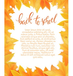 back to school blank surround with autumn leaves vector image