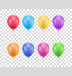 balloons different colors transparent background vector image