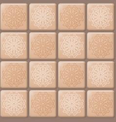 Beige tile pattern vector
