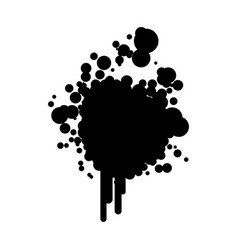 black silhouette ink splash icon vector image