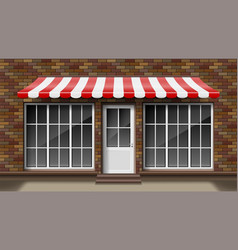 brick small 3d store front facade template vector image