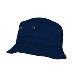 Bucket Hat Template vector