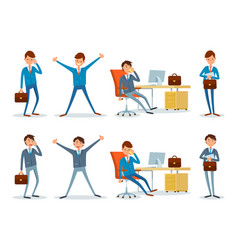 Business performance businessman busy with work vector