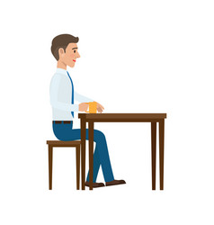 businessman at coffee break flat vector image
