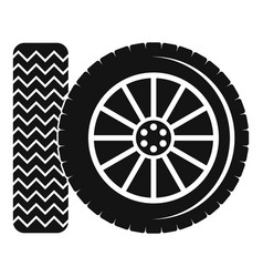 Car tire icon simple style vector