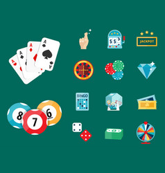 casino game poker gambler symbols blackjack cards vector image