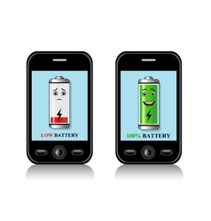 charge mobile phone batteries vector image