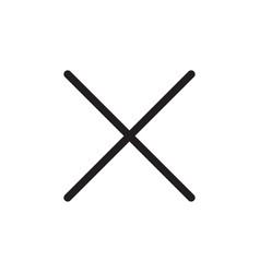 Close icon delete symbol vector