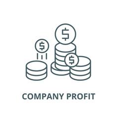 company profit line icon company profit vector image